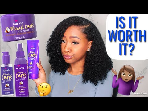 NEW AUSSIE MIRACLE CURLS PRODUCT REVIEW   IS IT WORTH IT??
