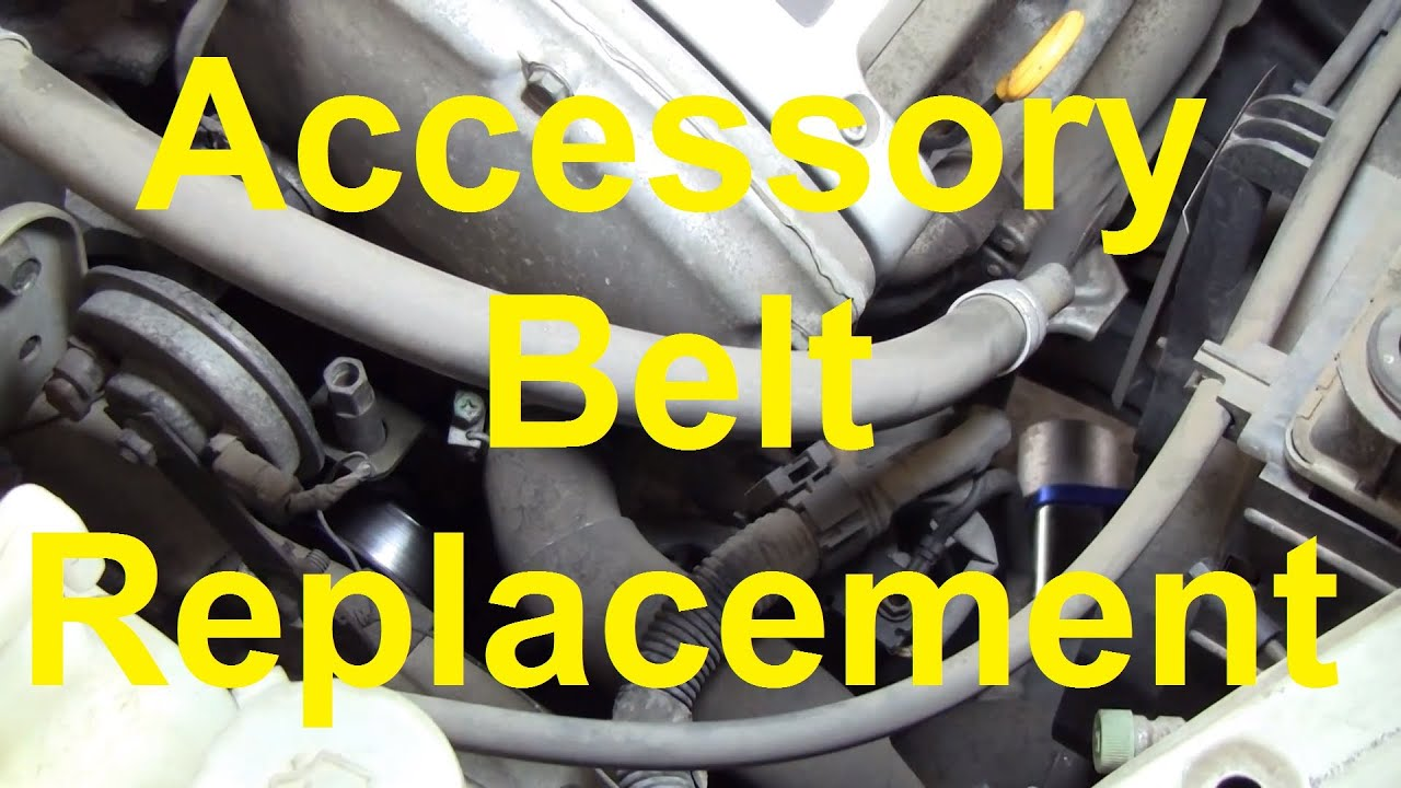how to change the serpentine accessory belt on a nissan maxima altima etc [ 1280 x 720 Pixel ]