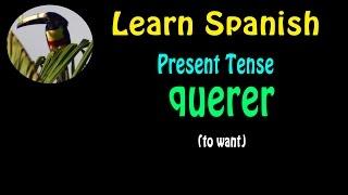 Learn Spanish-  Present tense: querer