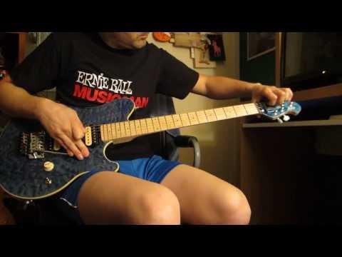 Improvising Van Halen style on my 20th Anniversary Ernie Ball Music Man Axis Trans Blue