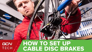 How To Set Uṗ Cable Disc Brakes On A Bike| Bicycle Maintenance Basics