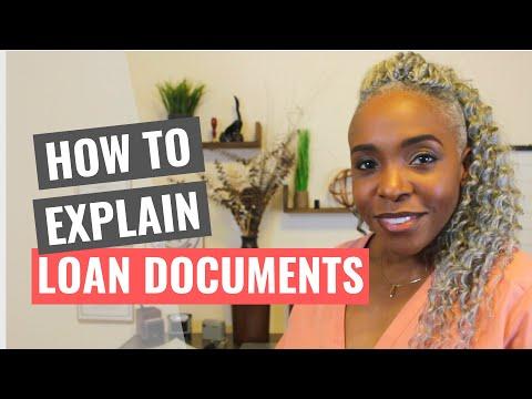 How To Explain Loan Documents!!