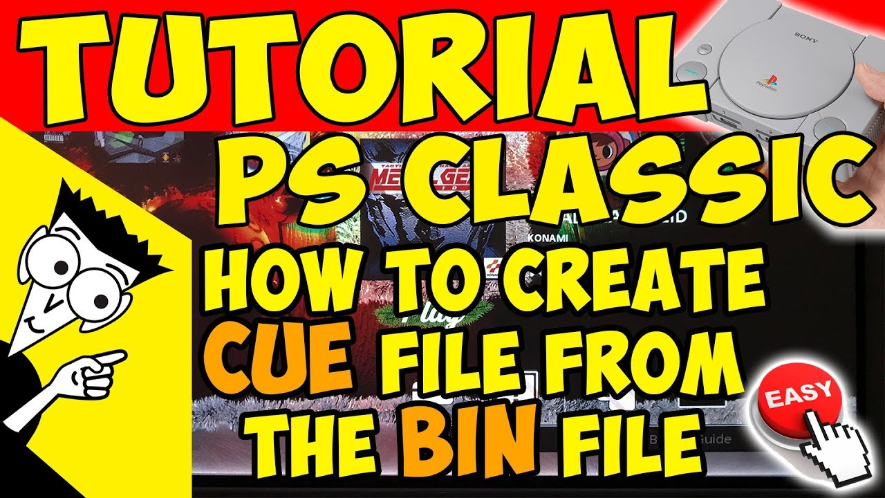 🛠️HOW TO: CREATE CUE FILE FROM BIN FILE FOR PS CLASSIC, NO SOFTWARE NEEDED