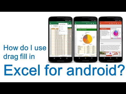 How do I use drag fill in Excel for android? - YouTube