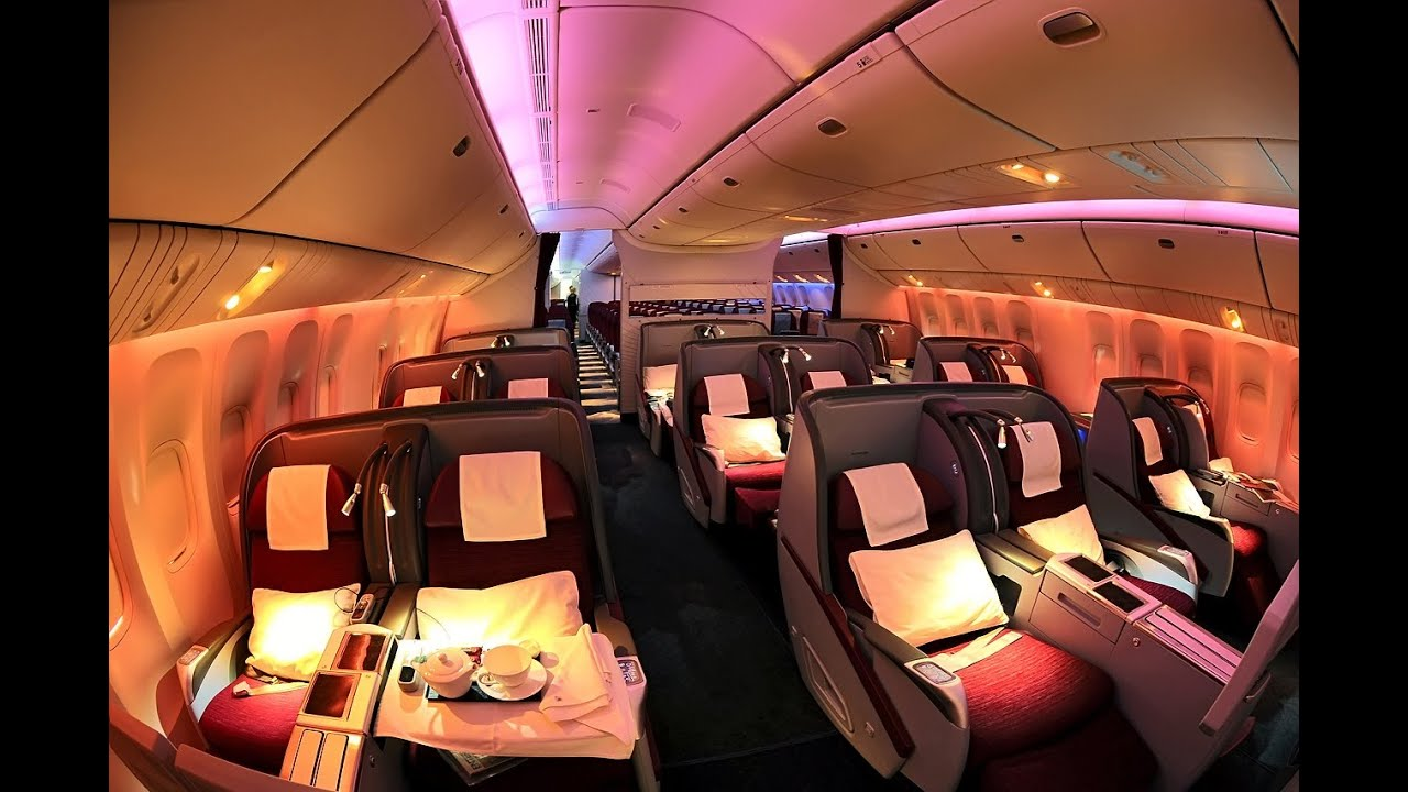 Qatar airways a330 business class london to doha youtube for Oficina qatar airways madrid