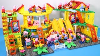 Peppa Pig Lego House Creations With Water Slide Toys For Kids #7