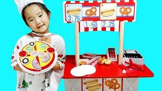 수지와 엄마 가게놀이 피자 아이스크림 pretend play Pizza Food Kitchen and Ice cream Cooking Kids Toys 뽀로로 LittleJoy