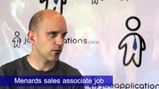 Menards Interview - Sales Associate