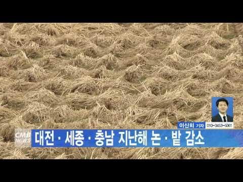 [대전뉴스]대전·세종·충남 지난해 논·밭 감소