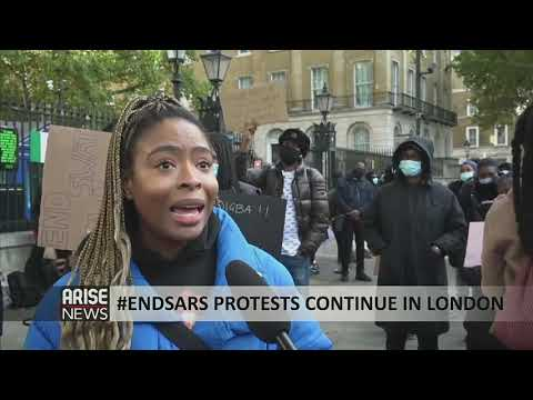 #ENDSARS PROTESTS CONTINUE IN LONDON - ARISE NEWS REPORT