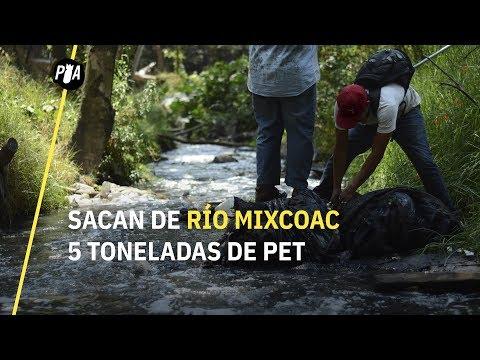 Sacan de Río Mixcoac 5 toneladas de PET y basura