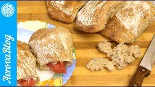 Итальянский хлеб стирато.  Аналог чиабатты