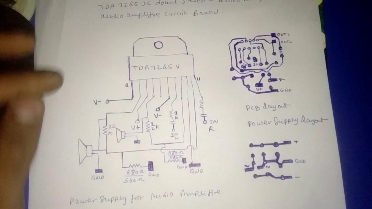 TDA7265 ic board diagram - YouTube
