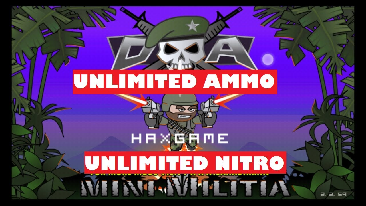 Mini Militia Unlimited Ammo And Nitro One Shot Kill Apk Free