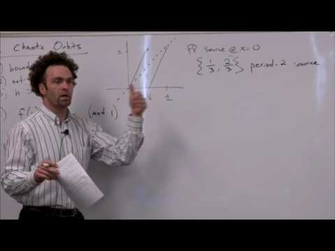 Lecture 11: Chaotic orbits, lyapunov exponents, the Tent Map