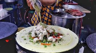 Mumbai Style Matka Gravy Dosa Making | Road Side Veg Meal | Indian Street Food