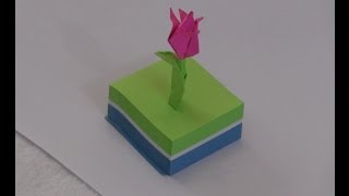 How To Make A Simple Origami Tulip Flower