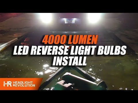 Installing 4000 Lumen Reverse Light Bulbs in the Toyota 4Runner