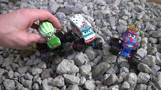 Disney Cars Monster Trucks Mater and Lightning McQueen!