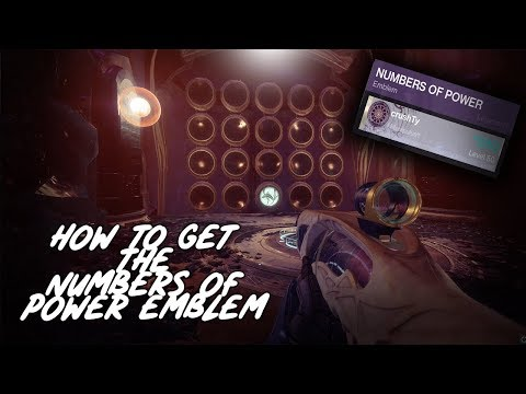How to get the Numbers of Power Emblem - Last Wish Destiny 2 Forsaken Raid