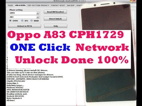 Oppo A83 CPH1729 One Click Network Unlock Done Not Relock back All Firmware  Version update