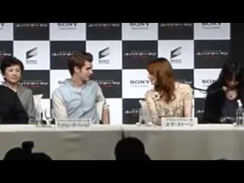 Andrew Garfield and Emma Stone Japan Press Conference 2012