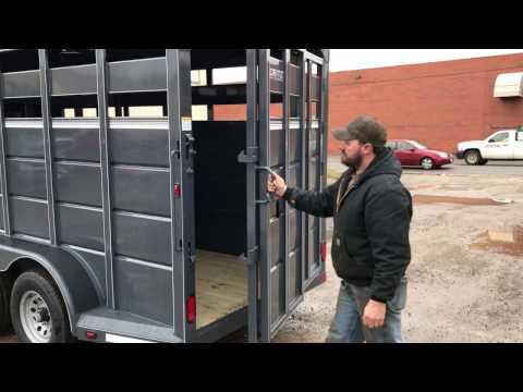 Moritz Livestock Trailer Back Gate Operation