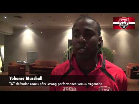 Post Match Reactions T&T vs Argentina - Defender Yohance Marshall