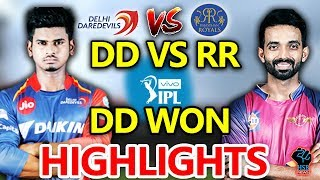 IPL 2018:DD vs RR Live Match Live Score,Live Streaming Online Score:DD WON