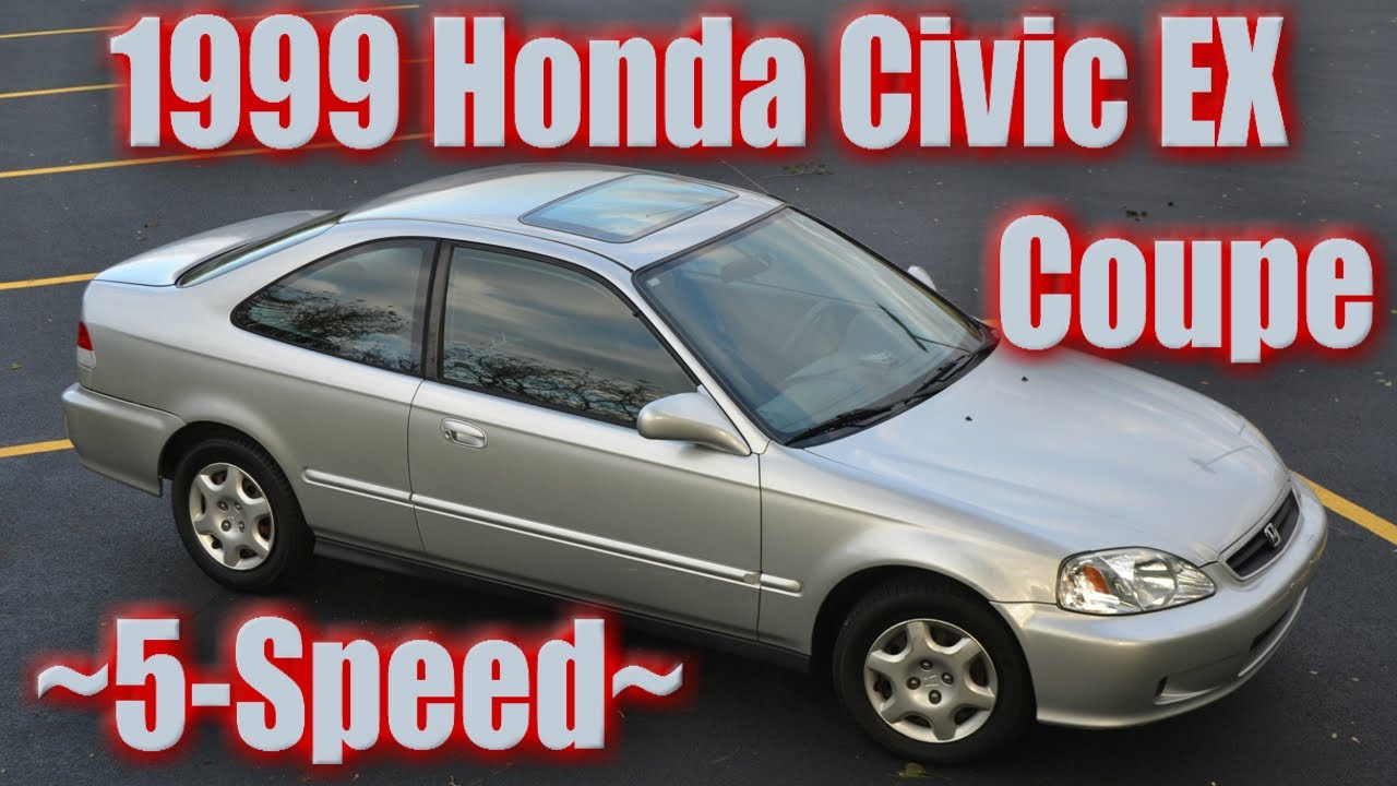Superior 1999 Honda Civic EX Coupe Silver 5 Speed Restoration And Photos! 18th    YouTube