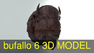 3D Model of bufallo -6 Review
