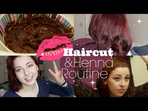 Full Henna Haircut Routine Burgundy Youtube