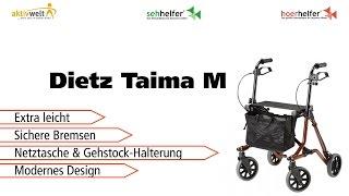 Produktvideo zu Extra leichter Rollator Dietz Taima M