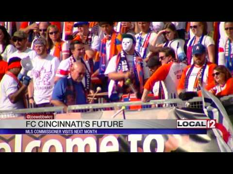 FC Cincinnati: MLS Commissioner to visit next month