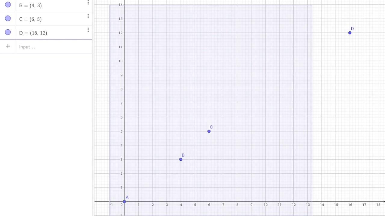 Ipad - Bedste rette linje - funktionsforskrift i GeoGebra udfra punkter