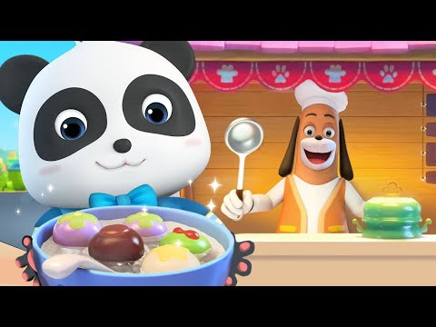 Sweet Rice Balls -Chinese Yummy Food   Nursery Rhymes   Kids Songs   Baby Cartoon   BabyBus