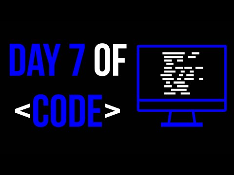 Day 7 of Code: Arrays!
