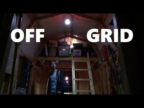 CHEAP Solar Power For Shed or Tiny House - Off The Grid Solar Kit