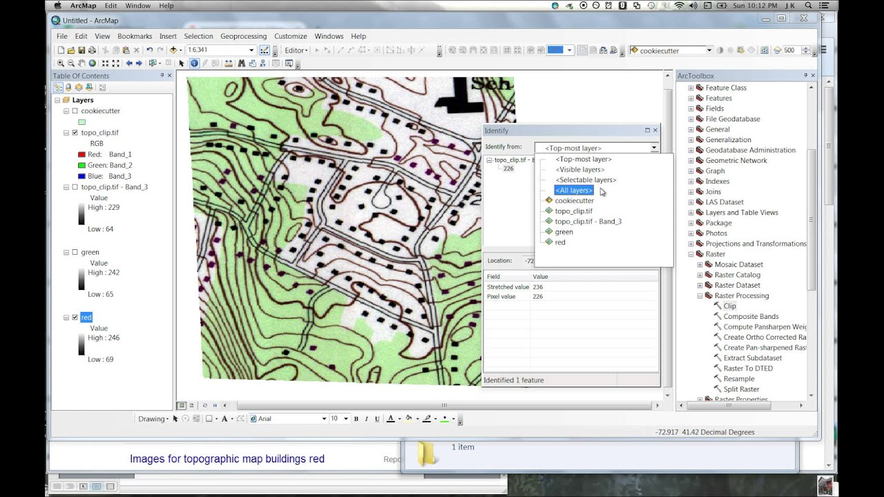 Arcmap extracting red color building symbols from topographic map arcmap extracting red color building symbols from topographic map raster buycottarizona Image collections