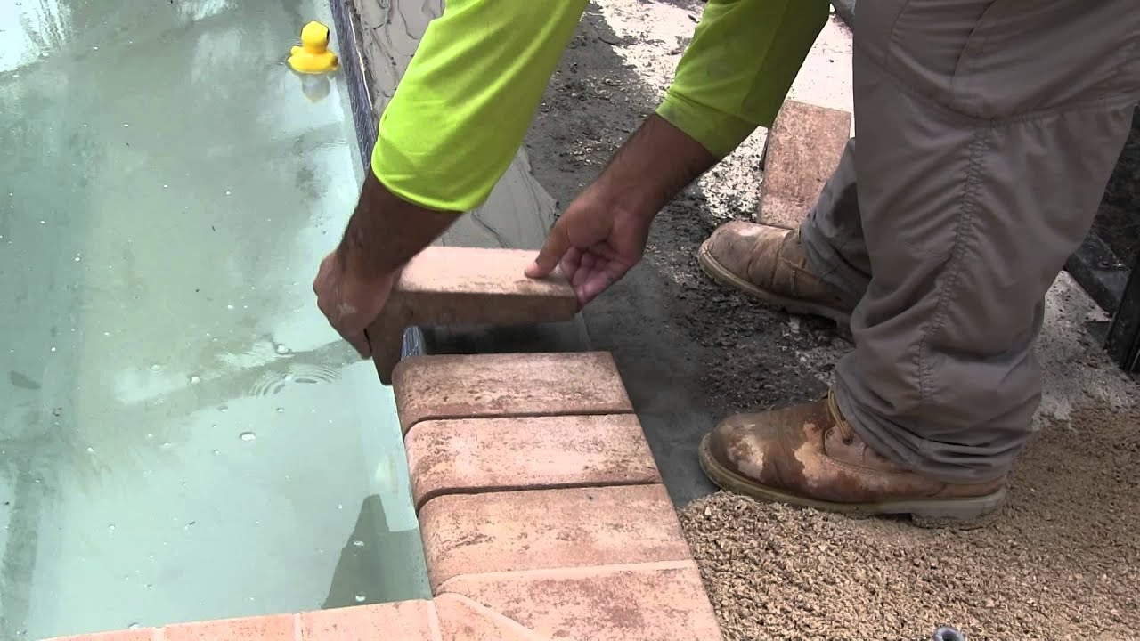 tuscan paving stone - remodel coping installation - youtube