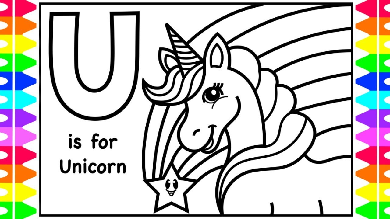 ABC Coloring | U is for UNICORN | UNICORN How to Coloring ...