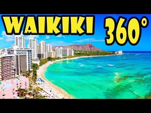 Waikiki Beach Walking Tour in 360 Video