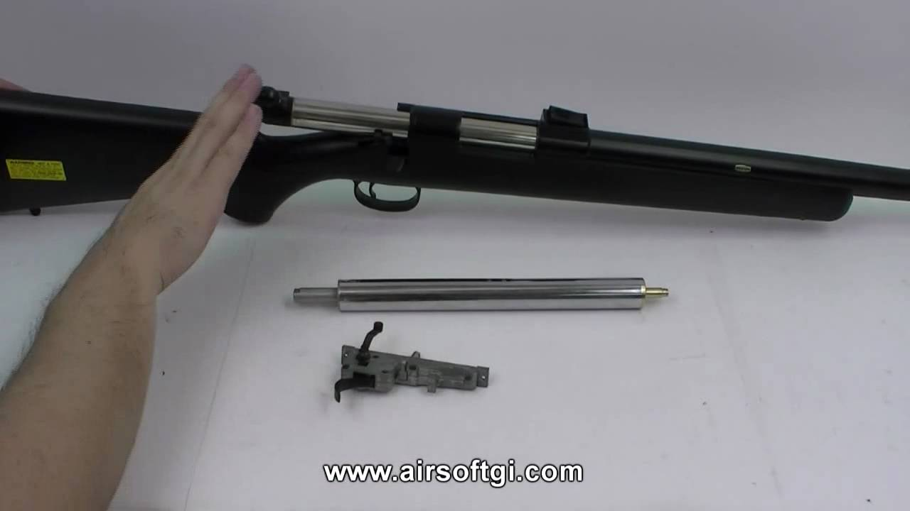 airsoft gi 101 - how it works - spring powered bolt action sniper rifle -  youtube