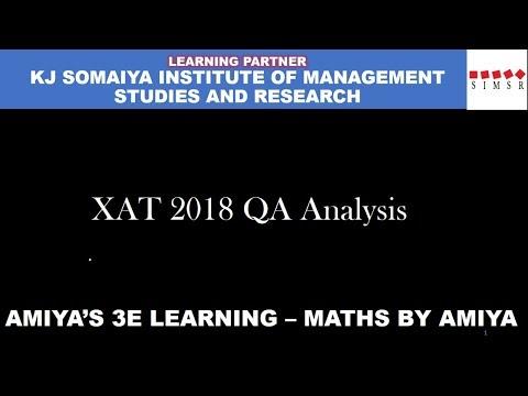 XAT 2018 Quant Solutions Analysis : Maths By Amiya