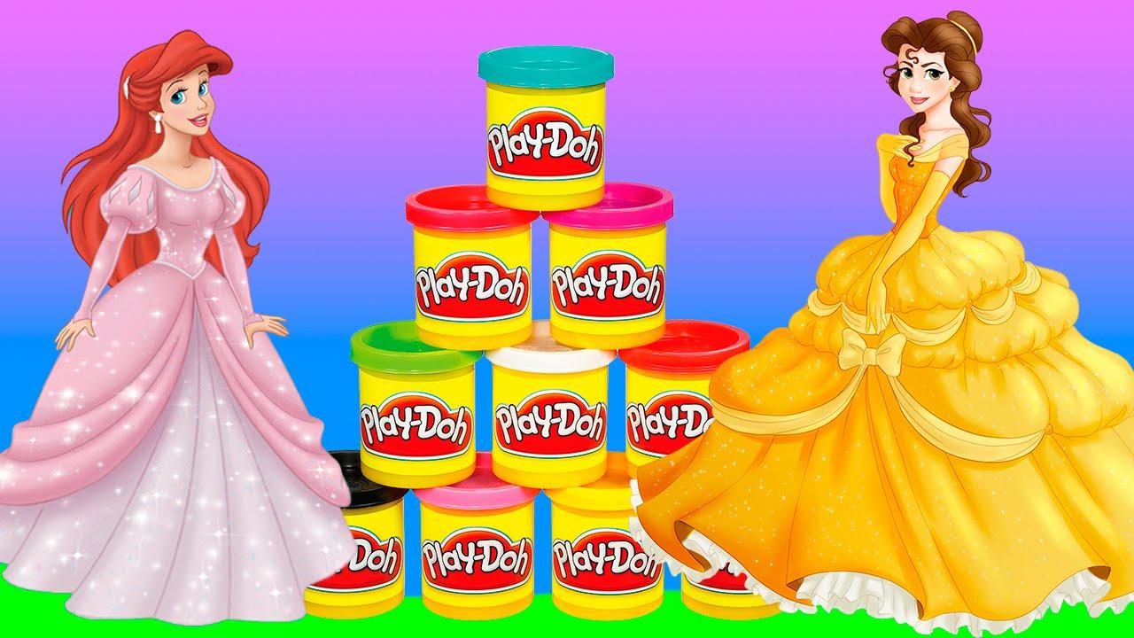 Лепим из пластилина платья принцессам