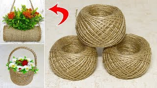 5 IDEAS crafts from JUTE. Do it yourself.