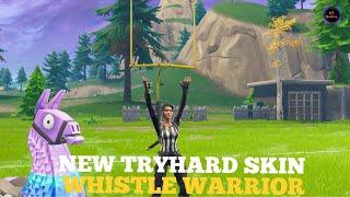 The New Tryhard Skin? | Whistle Warrior Gameplay | Fortnite Battle Royale