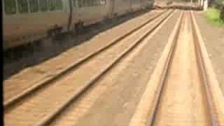 Acela overtaking Amtrak Crescent on 8/11/08
