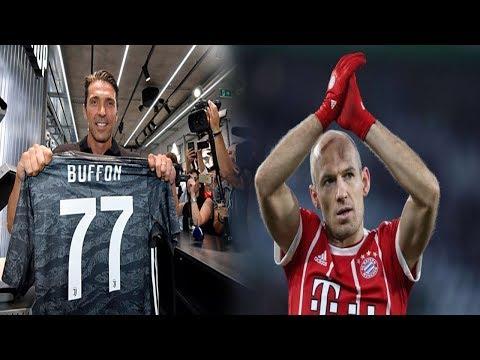 TIN BÓNG ĐÁ 5/7 | Buffon Trở Lại Khoác Áo Juventus, Robben Chính Thức Giải Nghệ