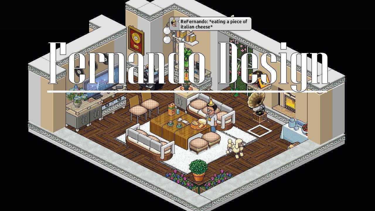 Living Room - Habbo Construction #FernDesign - YouTube